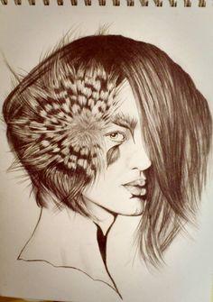 Mujer pajaro
