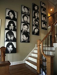 family picture display on wall - Google Search