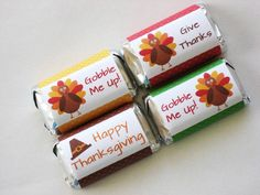 Printable Thanksgiving Candy Bar Wrappers DIY Thanksgiving
