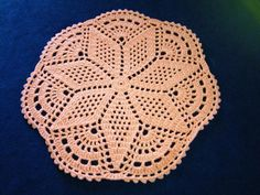 Accent or Area Doily Rug  3 feet Round. $39.98, via Etsy.