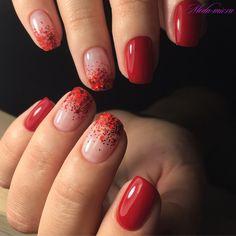 Chunky Red Glitter és Short Nail manikűr Nails 50 Creative Red Acrylic Nail Designs to Inspire You Red Acrylic Nails, Red Nail Art, Red Shellac Nails, Red Tip Nails, Black Nails, Red Nails With Glitter, Nail Pink, Yellow Nails, Acrylic Art