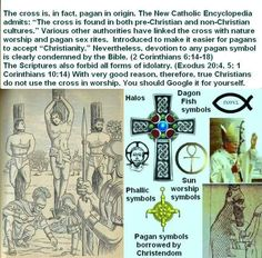 The cross is, in fact, pagan origin.The bible forbids idolatry worship. Exodus 20:4,5 1corinthians 10:14. JW.org has more info.