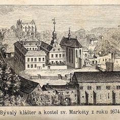 01brevnov1674 Prague Travel, Old Pictures, Czech Republic, Taj Mahal, Louvre, Praha, Painting, Pictures, Historia