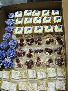 Bars and Individual Dessert Assortment by Delicately Delicious, via Flickr