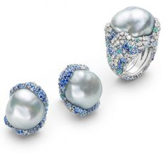 Mikimoto Four Seasons collection #Winter #pearl rings and earrings ...