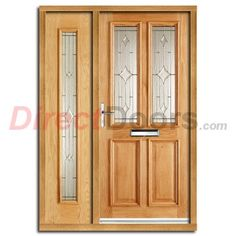 Derby Zinc Exterior Oak Door and Frame Set with One Side Screen and Zinc Double Glazing  sc 1 st  Pinterest & Derby Zinc Exterior Oak Door and Frame Set with Zinc Double Glazing ...