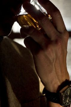 Real men drink liquor not beer preferably a aged whiskey