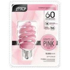 Pink and energy efficient light bulb