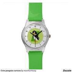 Cute penguin cartoon wristwatch