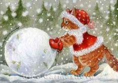 """Starting A Snowman"" by Irina Garmashova"