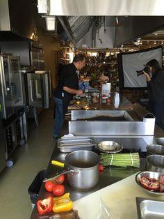 Test Kitchen Chef head chef sam in action: photoshoot in our test kitchen! #chef