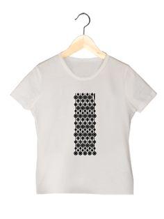 Camiseta en algodón orgánico en color blanco para chica VCBM   www.strambotica.es