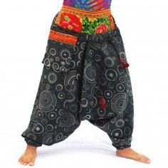 Aladdin harempants pants with ethnic patterns