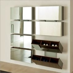 porada pit stop shoe rack, smoked mirror by tarcisio colzani is part of Shoe rack entryway - Folding Furniture, Diy Furniture, Furniture Design, Shoe Cupboard, Shoe Storage Cabinet, Shoe Rack Closet, Shoe Racks, Shoe Rack Hacks, Folding Shoe Rack