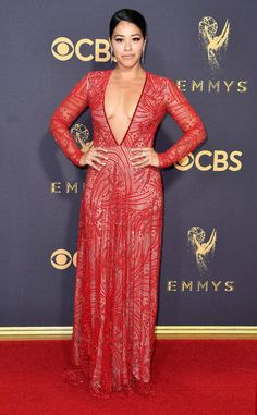 Gina Rodriguez from 2017 Emmys Red Carpet Arrivals