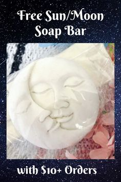 FREE Sun/Moon Soap today with any $10+ Order's! Enter CODE #socialholicdiva****** #free #sunandmoon #soapbar #natural #skincare #bathandbody #celestial Bath And Body Shop, The Body Shop, Jelly Soap, Roll On Perfume, Perfume Oils, Sun Moon, Alcohol Free, Smell Good