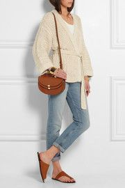 Étoile Isabel MarantFloyd cable-knit cotton-blend cardigan