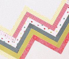 Make a border of quick & easy zig-zags!