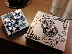 Xmas presents boxes made with tonic diex