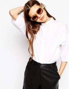 Oversized Sunglasses With Chunky Frame