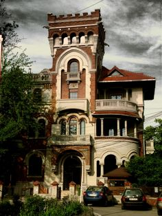 House on Gheorghe Bratianu Street from Bucharest, Romania