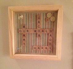 £22 Handmade Personalised scrabble art picture! new home/ new baby/ weddings/birthdays/christenings or as in remembrance gifts. Homemade
