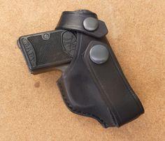 Baby Browning IWB holster with press stud closing loop - handmade by makeitjones.co.uk