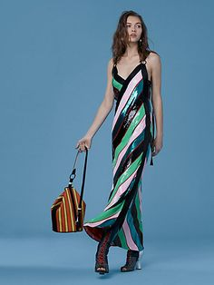 sequin crossover dress from DVF