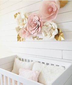 I spy #happilyeveretched laser cut name signs in this stunning nursery for baby Ryan Olivia! ❤️ www.letstietheknot.etsy.com