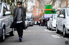 http://chicerman.com  billy-george:  Eugene Tong in London for Fashion Week  #streetstyleformen
