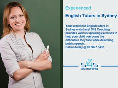 Experienced English Tutors in Sydney - Your search for English tutors in Sydney ends here! S4S Coaching provides various speaking exercises to help your child overcome the difficulties they face while delivering public speech. Call us today @ 02 8677 3432.