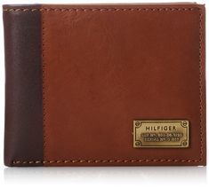 22f8aef94bac6 Tommy Hilfiger Men s Leather Melton Passcase Billfold Wallet with Remo