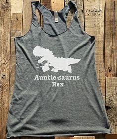 Aunt tshirt  Auntie Saurus Trex dinosaur funny family by edenbella