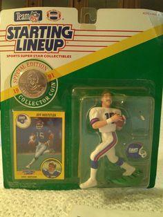 Starting Lineup Jeff Hostetler Figure And Collectors Card - - NIB - Kenner 1991 #Kenner