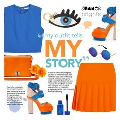My Outfit, My Story. ~ Summer Brights by alexandrazeres on Polyvore featuring polyvore fashion style Alice + Olivia Miu Miu Diane Von Furstenberg Iphoria Maybelline clothing summerbrights