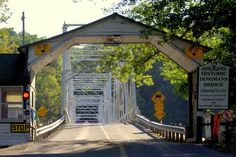 Dingmans Ferry Toll Bridge,last privately owned toll bridge on the Delaware River , toll is one dollar and connects to Layton, Sussex County in NJ (I have crossed this bridge)