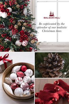 Find the perfect artificial Christmas tree for your home. Shop Balsam Hill's best artificial Christmas trees in various sizes, foliage types, and setup options. Large Christmas Baubles, Christmas Tree Themes, Christmas Decorations To Make, Rustic Christmas, All Things Christmas, Christmas Home, Christmas Holidays, Christmas Wreaths, Christmas Crafts