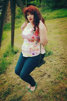 """Anyone who has read some of my writing on here or on my personal blog knows I'm a huge supporter of breaking all those plus-size fashion no-nos set for us women sizes 12 and up. You know the ones. """"Plus-size women can't wear bright colors."""" """"Plus-size women can't wear anything that shows some"""