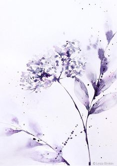Abstract floral watercolor floral watercolor art  pink