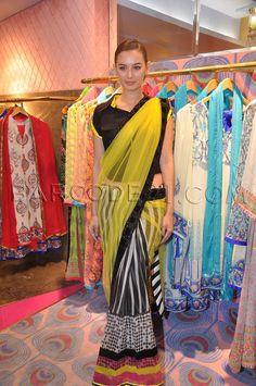 fun saree #contemporary