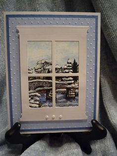 Crafter's Companion Official Blog Page: Frosty Window Scene