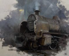 David Shepherd Transport Pictures, Steam Art, Steam Railway, Bonde, Train Art, Railway Posters, Old Trains, Train Engines, Steam Locomotive