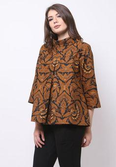 Sewing Clothes Women Dresses Tunic Tops Ideas For 2019 Model Dress Batik, Batik Dress, Kebaya Dress, Batik Kebaya, Sewing Clothes Women, Dress Clothes For Women, Dress Batik Kombinasi, Blouse Batik, Batik Fashion