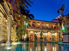 Versace Mansion >> http://www.frontdoor.com/celebrity/versace-mansion-on-miami-beach-hits-the-auction-block?soc=pinterest
