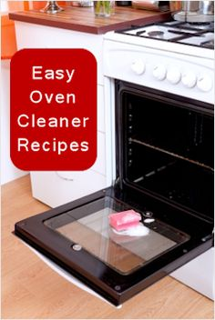 Create a mixture of baking soda, water, and dish detergent to spray your oven down with.