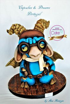Cake International Birmingham 2016 Grumpy - Gold Medal I did this little guy back in 2015, but he got damage in the transportation from...