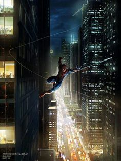 Spiderman is a hero because he saves people and he gets there on time by flying or swing from place to place.