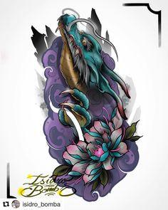 By in Taichung, Taiwan 🇹🇼 Japan Tattoo Design, Japanese Tattoo Designs, Japanese Tattoo Art, Tattoo Sketches, Tattoo Drawings, Body Art Tattoos, Sleeve Tattoos, Colored Tattoo Design, Bio Organic Tattoo