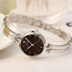 4bd42ab0e1c KIMIO Women s Quartz Dress Watches Luxury Brand Ladies Silver Bracelet  Watch Waterproof Girl Wristwatch Clock Relogio