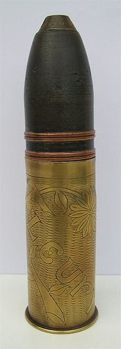 Trench Art ... Fleury ... 37mm Shell Casing